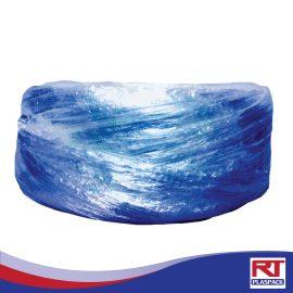 เชือกร้อยมาลัยสีน้ำเงิน RTP0024 เชือกฟางสำหรับร้อยมาลัย