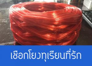 บริษัท RTP เชือกฟาง เชือกโยงทุเรียน สีแดงสด
